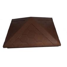 Колпак для забора коричневый